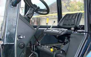 Размещение органов управления и трактора МТЗ 82(80)