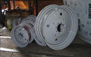Размеры, характеристики передних и задних колёсных дисков для тракторов МТЗ Беларус