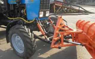 Оборудование трактора МТЗ передней навеской
