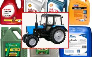 Таблицы марок заправочных масел для МТЗ 82: в двигатель, трансмиссию, гидравлику