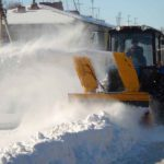 Трактор МТЗ с снегоочистителем