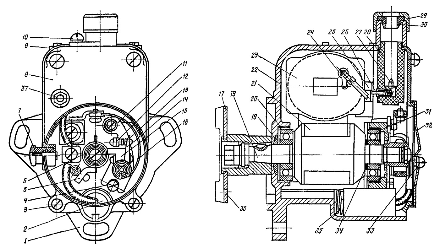 Устройство магнето М124-Б1