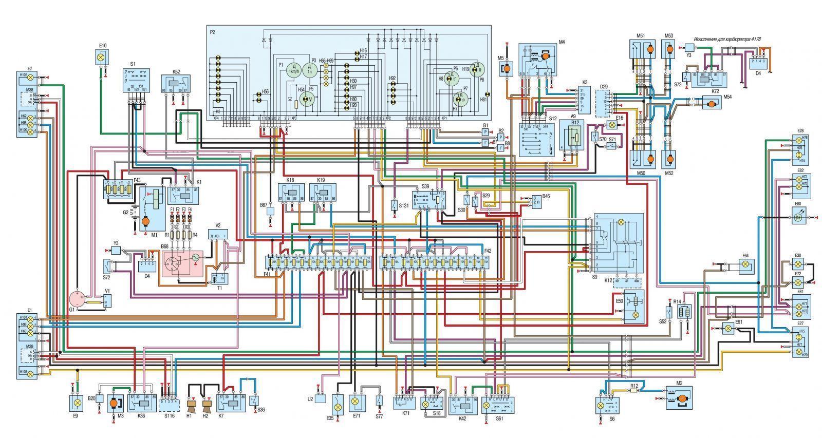 Электрическая схема трактора МТЗ 82