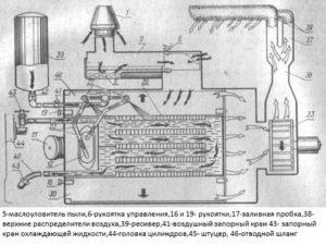 схема отопителя кабины мтз