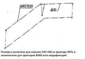 Схема установки растяжек стогомёта