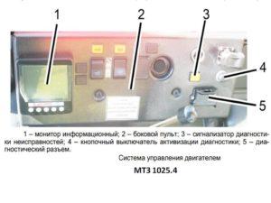 электронная система управления двигателем трактора