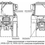 Гидровыводы трактора МТЗ 892