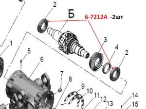 Подшипники дифференциала 52-230-3010-Б ПВМ МТЗ 82