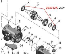 Подшипники дифференциала балочного ПВМ МТЗ 82