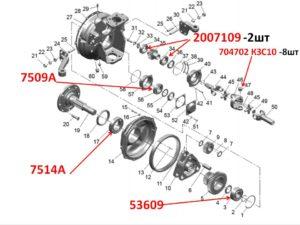 подшипники колёсного редуктора балочного ПВМ МТЗ 82