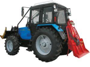 Лесной трактор МТЗ с лебёдкой
