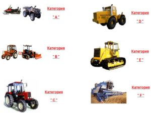 категории пав тракториста
