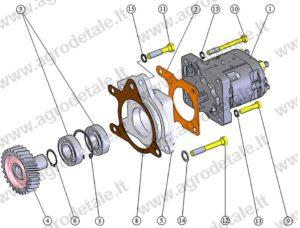 насос шестерёнчатый рулевого управления мтз 1221