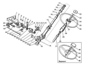 рулевая колонка МТЗ 1221