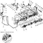 Вал пониженных передач и заднего хода мтз 1221