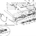 Вал пониженных передач КПП 16+8 МТЗ 1221