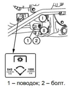 схема переключения скорости вращения вом