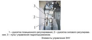 Рычаги управления распределителем трактора Беларус